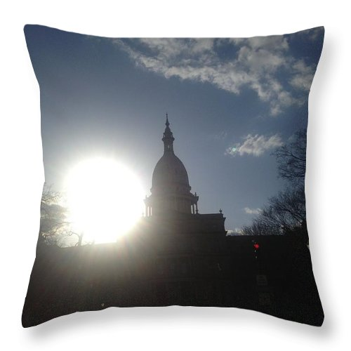 Capitol Throw Pillow featuring the photograph Sundown by Joseph Yarbrough