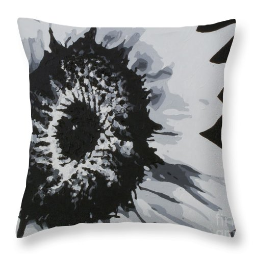 Sunflower Throw Pillow featuring the painting Sunflower by Katharina Filus