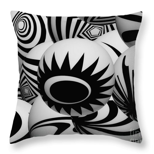 Sunflower Throw Pillow featuring the digital art Sunflower by Mo T