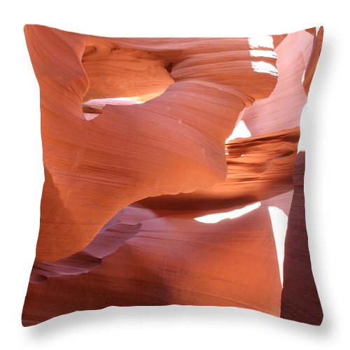 Canyon Throw Pillow featuring the photograph Sunlit Canyon by Christiane Schulze Art And Photography