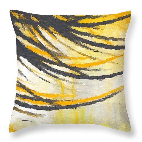 Throw Pillow featuring the painting Sunny Field by Lourry Legarde