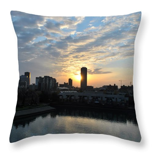 Sunrise Throw Pillow featuring the photograph Sunrise Arise Buffalo Ny V2 by Michael Frank Jr