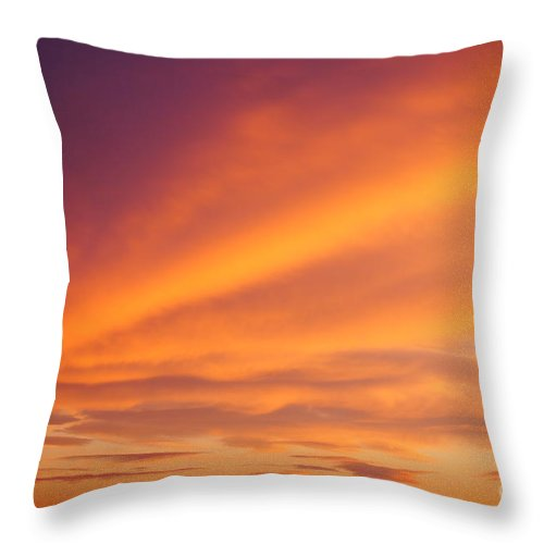 Sunrise Throw Pillow featuring the photograph Sunrise Clouds by Jeffery L Bowers