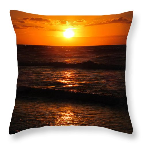 Sunrise Throw Pillow featuring the photograph Sunrise In Texas 5 by Richard Booth