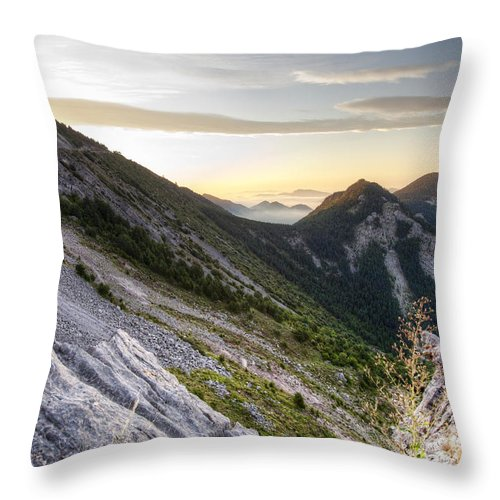 Beautiful Throw Pillow featuring the photograph Sunrise In The Pyrenean Catalonia by Marc Garrido