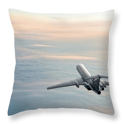 Scenics Throw Pillow featuring the photograph Sunrise Journey by Egorych