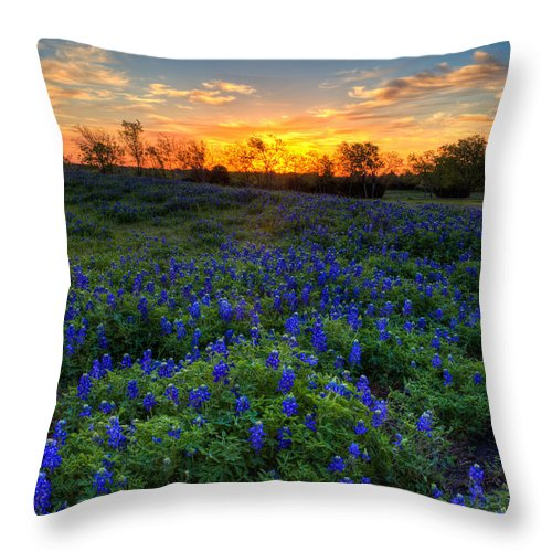 Sunrise Throw Pillow featuring the photograph Sunrise by Mark Alder