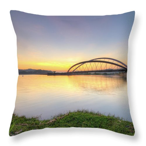 Tranquility Throw Pillow featuring the photograph Sunrise by Mohamad Zaidi Photography