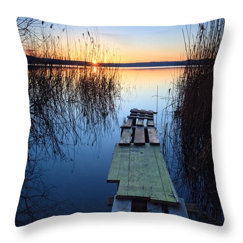Lake Throw Pillow featuring the photograph Sunrise On The Lake II by Matteo Colombo