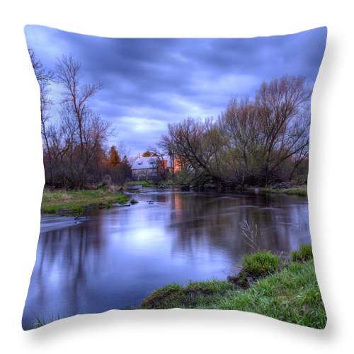 Farm Throw Pillow featuring the photograph Sunrise On The Rose Farm by Thomas Young