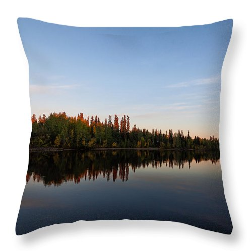 Alaska Throw Pillow featuring the photograph Sunrise Over Chena River by Lauri Novak
