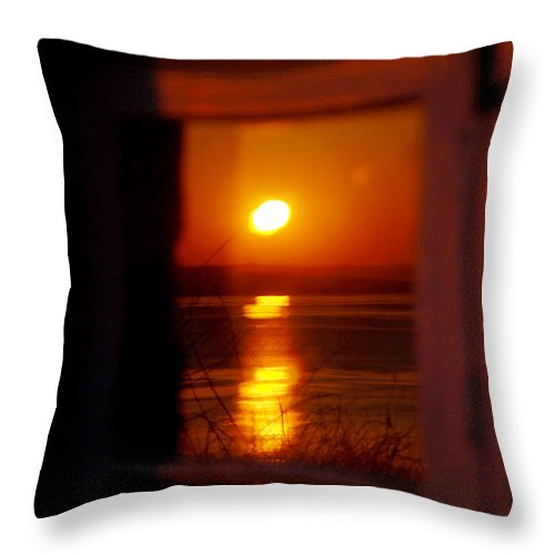 Sunrise Throw Pillow featuring the photograph Sunrise Refection by Tracy Winter