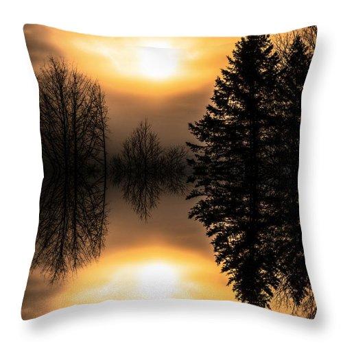 Sun Throw Pillow featuring the photograph Sunrise-sundown by Sherman Perry