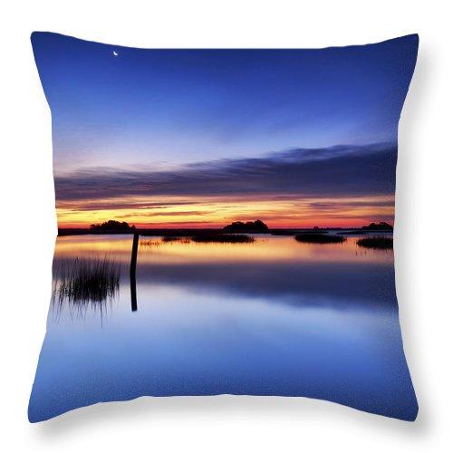 Blue Throw Pillow featuring the photograph Sunrise Sunset Art Photo - Slip Slidin' By Jo Ann Tomaselli by Jo Ann Tomaselli