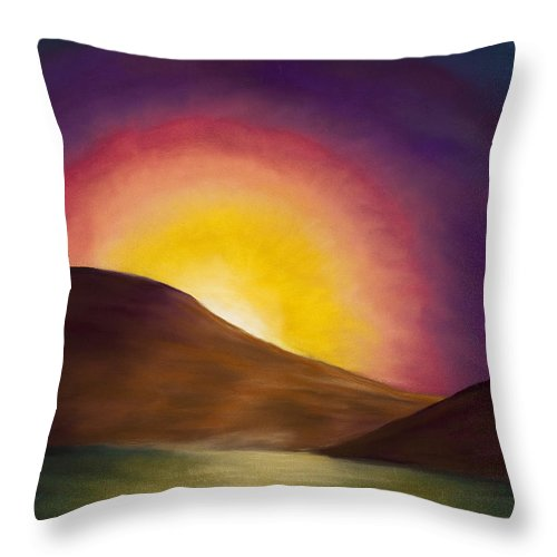 Sunrise Throw Pillow featuring the painting Sunrise Sunset by Dana Strotheide
