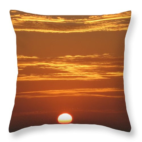 Sunset Throw Pillow featuring the photograph Sunset 501 by Elle Nicolai