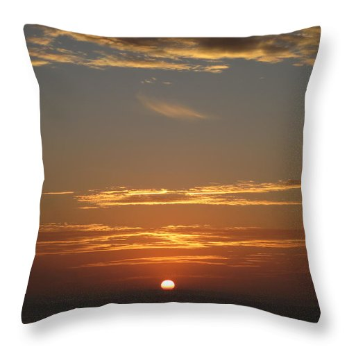 Sunset Throw Pillow featuring the photograph Sunset 502 by Elle Nicolai