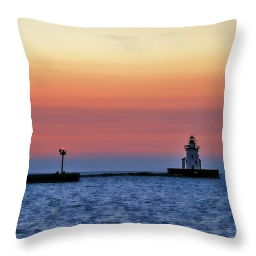 Landscape Throw Pillow featuring the photograph Sunset After Glow by Brian Bendlock