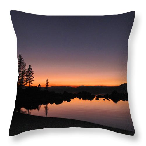 Landscape Throw Pillow featuring the photograph Sunset At Lake Tahoe by Dianne Phelps