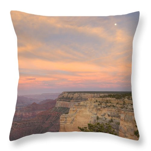 Grand Canyon Throw Pillow featuring the photograph Sunset At Powell Point by Alan Vance Ley