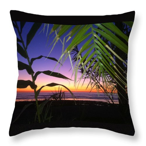 Sunset Throw Pillow featuring the photograph Sunset At Sano Onofre by Paul Carter