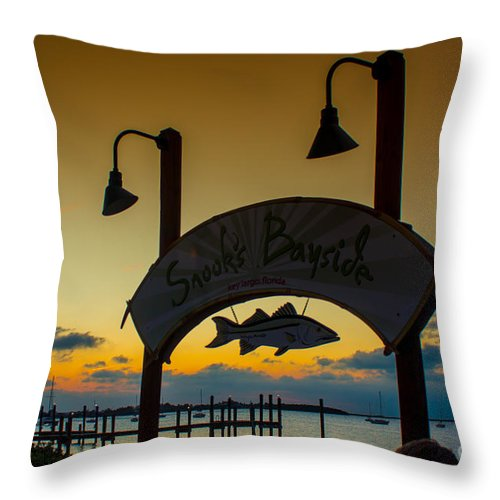 Sand Throw Pillow featuring the photograph Sunset At Snooks Bayside by Rene Triay Photography