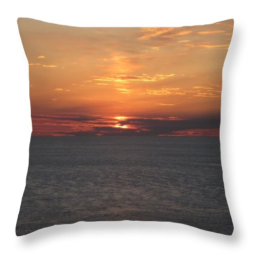 Landscape Throw Pillow featuring the photograph Sunset at The Beach by Marian Lonzetta