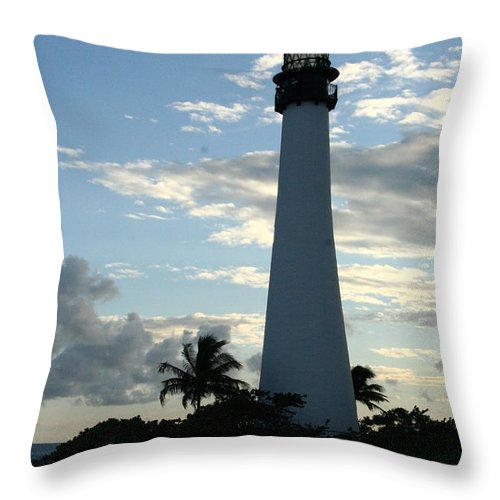 Lighthouse Throw Pillow featuring the photograph Sunset At The Lighthouse by Elizabet Chacon