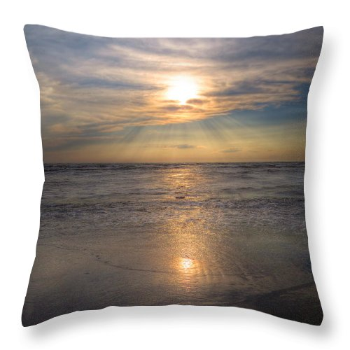 Sunset Throw Pillow featuring the photograph Sunset Beauty by Cindy Haggerty