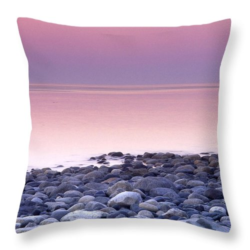 Sunset Throw Pillow featuring the photograph Sunset By The Ocean by Jerry Shulman