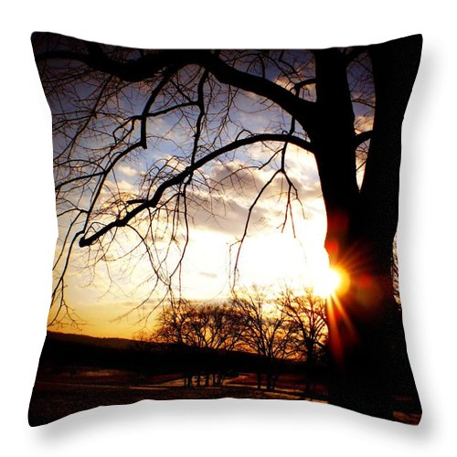 Sunset Throw Pillow featuring the photograph Sunset by CSN Photography