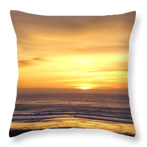Landscape Throw Pillow featuring the photograph Sunset Flame by Chris Burbick