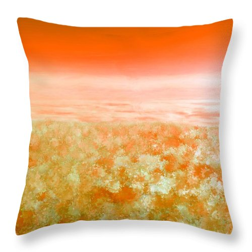 Clouds Throw Pillow featuring the painting Sunset From Above by Bruce Nutting