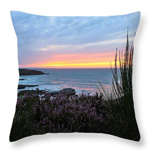 Sunset Throw Pillow featuring the photograph Sunset Garden View by Athena Mckinzie