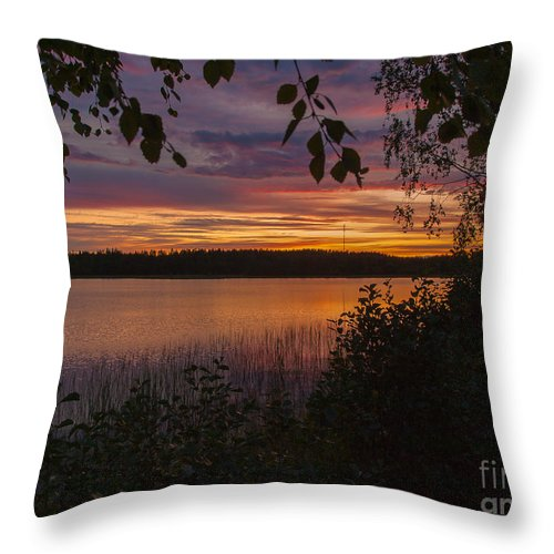 Photography Throw Pillow featuring the photograph Sunset Glory by Ismo Raisanen
