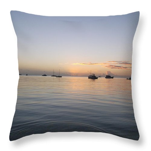 Cabo Rojo Throw Pillow featuring the photograph Sunset I by Carmelo Torres
