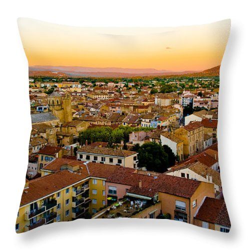 Europe Throw Pillow featuring the photograph Sunset In Cavaillon by Oleg Koryagin