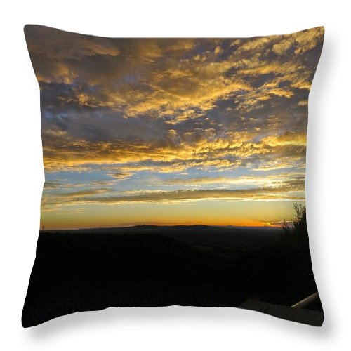 Sunset In Taos Throw Pillow featuring the photograph Sunset In Taos by Emily Hargreaves
