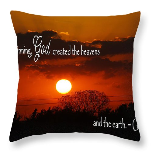 Catholic Throw Pillow featuring the photograph Sunset In The Beginning by Robyn Stacey