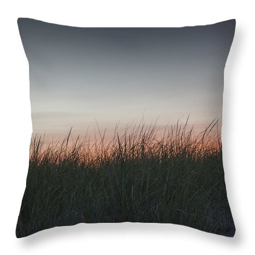 Southampton Throw Pillow featuring the photograph Sunset In The Dunes by Steve Gravano