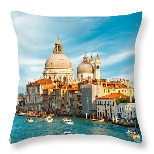 Bell Throw Pillow featuring the photograph Sunset In Venice by Gurgen Bakhshetsyan