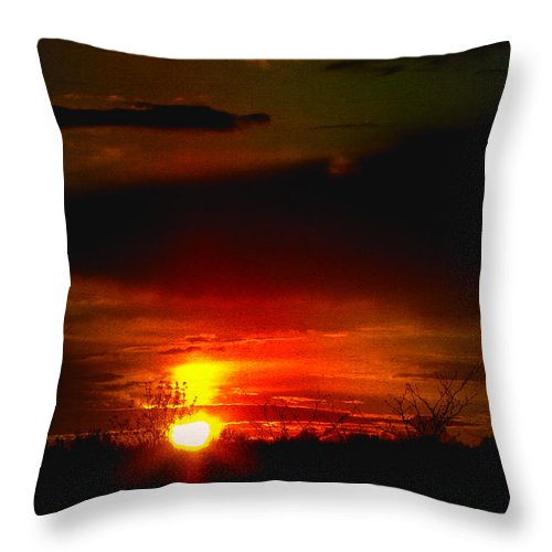 Landscape Throw Pillow featuring the photograph Sunset Landscape Photograph by Laura Carter