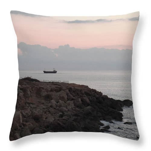 Landscape Throw Pillow featuring the photograph Sunset by Lorie Sweeney