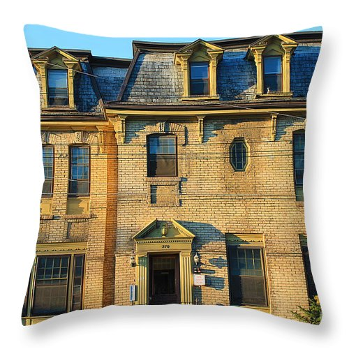 Home Throw Pillow featuring the photograph Sunset On An Old Toronto Home by Nina Silver