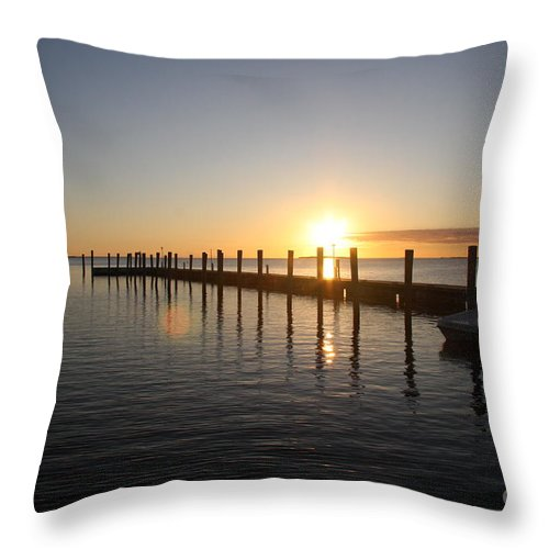 Sunset Throw Pillow featuring the photograph Sunset On Key Largo by Christiane Schulze Art And Photography