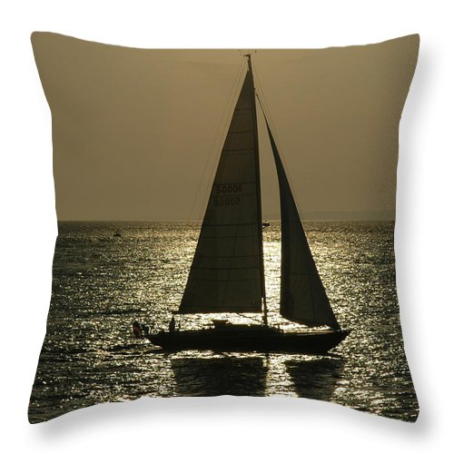 Martha's Vineyard Throw Pillow featuring the photograph Sunset On Martha's Vineyard by Lenore Rust