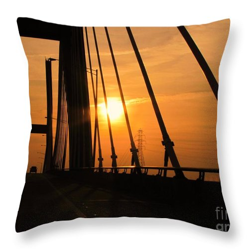 Sunset Throw Pillow featuring the photograph Sunset On The High Rise by Michelle Powell
