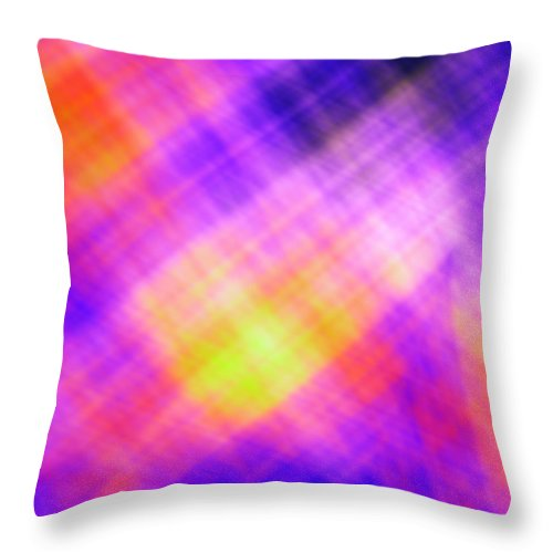 Sunset Throw Pillow featuring the digital art Colorful Sunset by Roman Aj