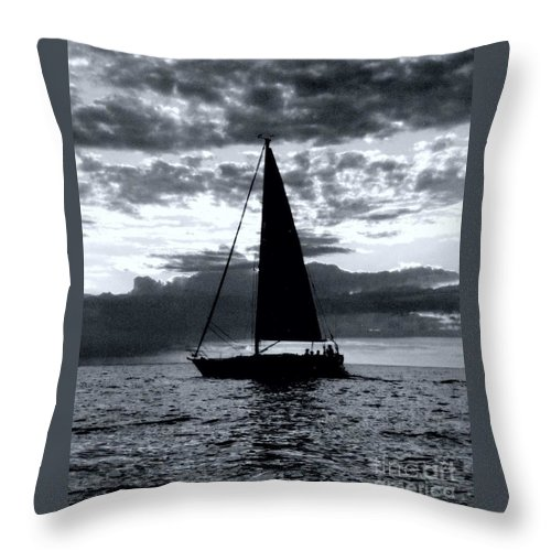 Sailing Throw Pillow featuring the photograph Sunset Sailing -2 by Kathleen Struckle