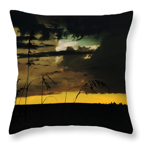 Sunset Throw Pillow featuring the photograph Sunset Silhouette by Norman Johnson